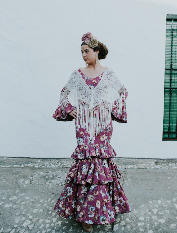 Trajes-de-flamenca-isabel-hernandez-Modelo-Calañas